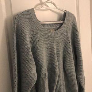 Super cute oversized blue sweater